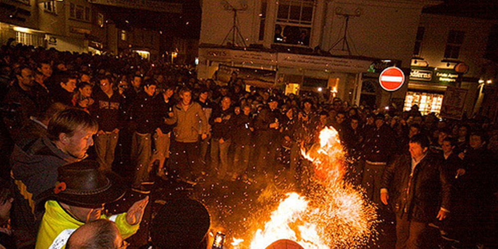 Flaming Tar Barrels Devon